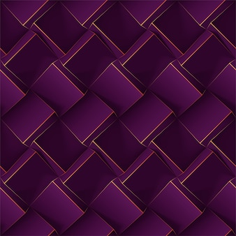 Nahtloses geometrisches muster des dunklen violetts.