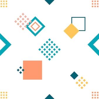 Nahtloses, geometrisches muster im skandinavischen stil, vektorillustration mit geometrischen figuren. entwerfen sie hintergründe für einladungs-, broschüren- und werbevorlagen.