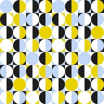 Nahtloses geometrisches muster mit kreisen und halbkreisen