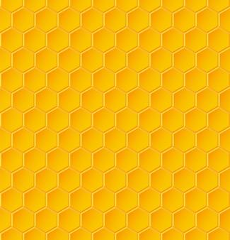 Nahtloses geometrisches muster mit waben. illustration