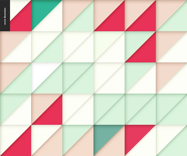 Nahtloses geometrisches papercut-muster