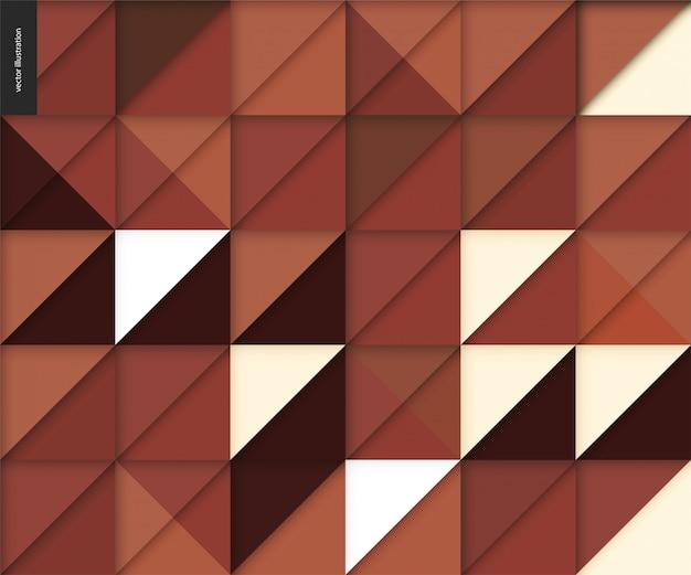 Nahtloses geometrisches papercut muster