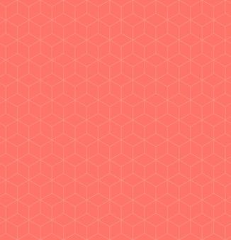 Nahtloses geometrisches rosa banner. trendy rosa farbe hintergrund