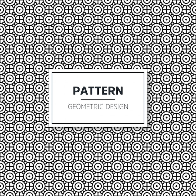 Nahtloses geometrisches schwarzweiss-muster