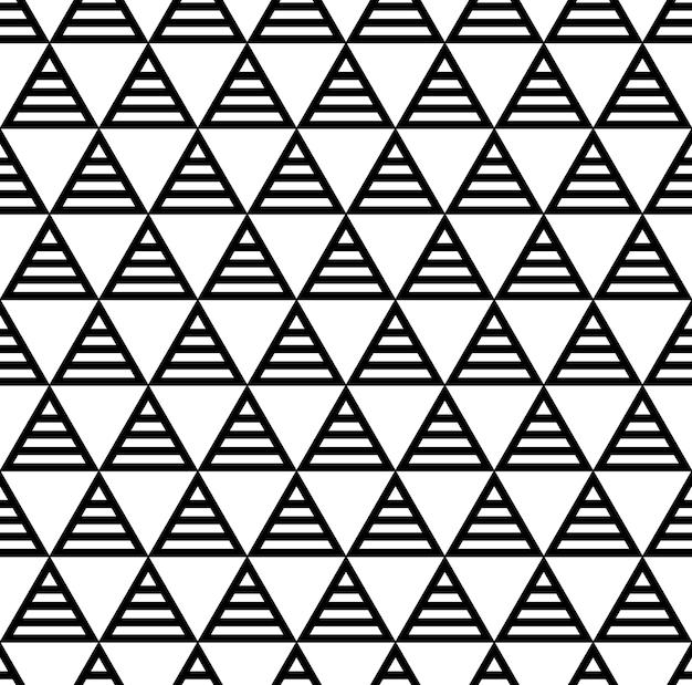 Nahtloses gittermuster mit sich wiederholenden geometrischen dreiecken.