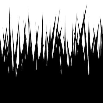 Nahtloses gras, schwarze silhouette auf weißem hintergrund