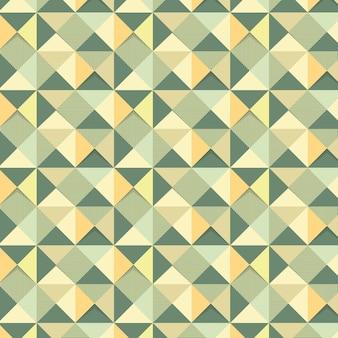 Nahtloses grünes geometrisches dreieck gemusterter hintergrunddesign-ressourcenvektor