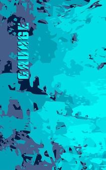 Nahtloses grunge-muster mit abstrakter textur premium-vektor