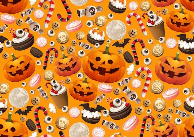 Nahtloses halloween-muster.