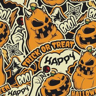 Nahtloses halloween-muster