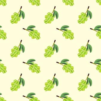 Nahtloses hintergrundbild bunte tropische fruchtsternstachelbeere