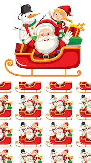 Nahtloses hintergrunddesign mit weihnachtsthema