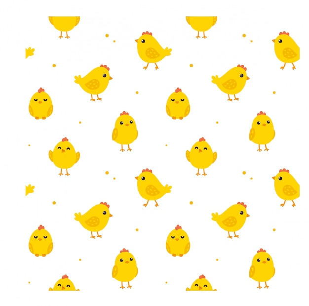 Nahtloses hühnermuster
