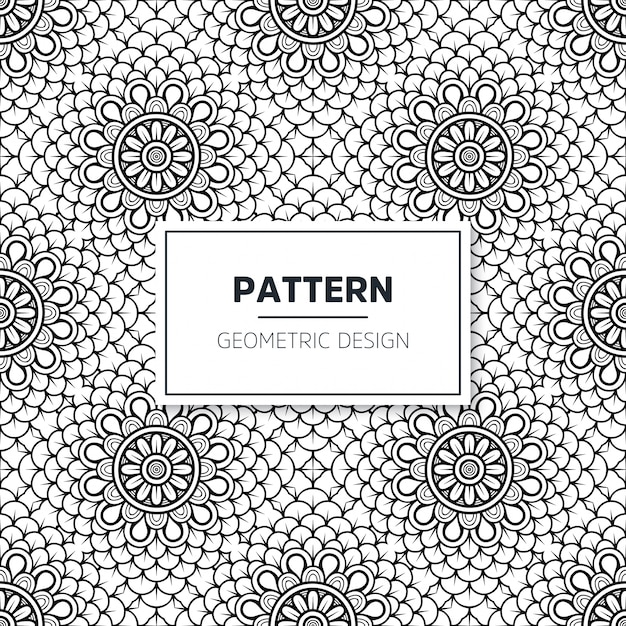 Nahtloses islamisches mandala-muster. vintage elemente