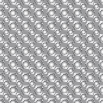 Nahtloses karbonmuster mit kleinen runden löchern in grauen farben