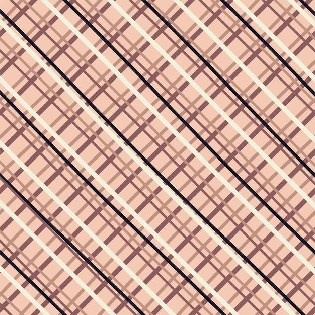 Nahtloses kariertes karomuster cottagecore pastellfarben zeichnung auf braunem hintergrund