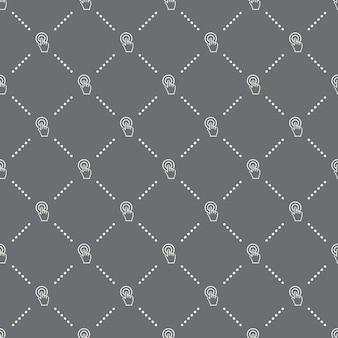 Nahtloses klickmuster auf dunklem hintergrund. call-to-action-symbol kreatives design. kann für tapeten, webseitenhintergrund, textilien, druck-ui/ux verwendet werden