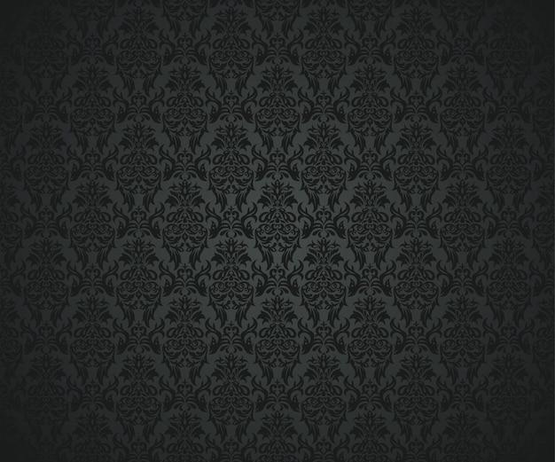 Nahtloses luxusmuster auf schwarzem