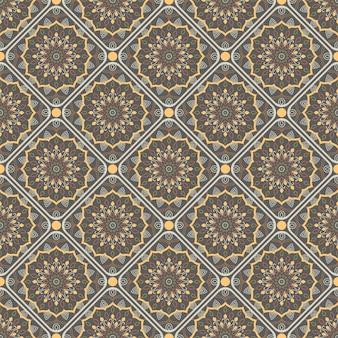Nahtloses mandala patern. vintage elemente im orientalischen stil.