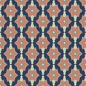 Nahtloses mandalamuster. vintage elemente im orientalischen stil.