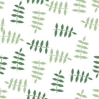 Nahtloses mit blumenmuster auf weißem hintergrund. natur tapete. botanik textur. dekorative verzierung. design für stoff, textildruck, verpackung, abdeckung. vektor-illustration.