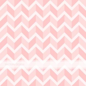 Nahtloses modernes abstraktes süßes rosa zickzackvektordesign des hintergrundmusters