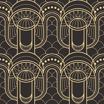 Nahtloses modernes fliesenmuster der abstrakten kunst deco
