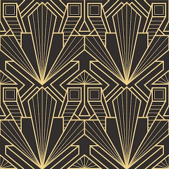 Nahtloses modernes fliesenmuster des abstrakten art deco