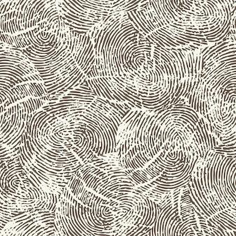 Nahtloses monochromes fingerabdruckmuster