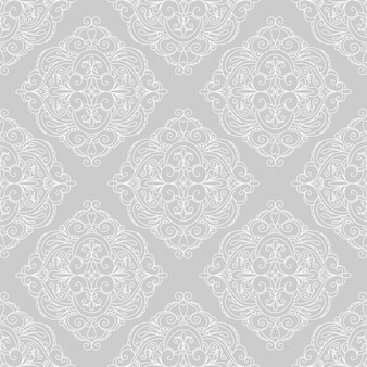 Nahtloses monochromes muster mit dekorativem mandala