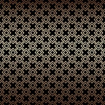 Nahtloses muster aus gold und schwarz im art-deco-stil