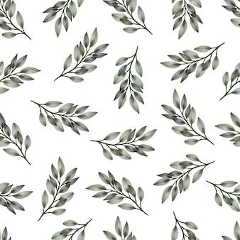 Nahtloses muster aus grünen blättern für stoff- und hintergrunddesign