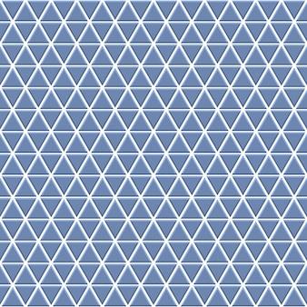 Nahtloses muster aus kleinen dreiecken in hellblauen farben