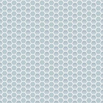Nahtloses muster aus kleinen sechsecken in hellblauen farben