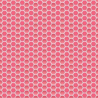 Nahtloses muster aus kleinen sechsecken in rosa farben