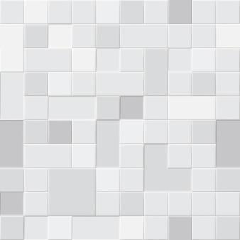 Nahtloses muster aus quadratischen fliesen in verschiedenen grautönen