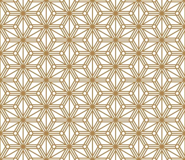 Nahtloses muster basierend auf japanischem ornament kumiko