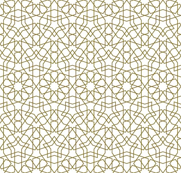 Nahtloses muster basierend auf traditioneller islamischer kunst.