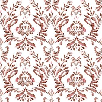 Nahtloses muster der abstrakten eleganz mit blumenhintergrund.