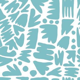 Nahtloses muster der abstrakten fleckform. konzept zeitgenössisches gewebe textildesign auf weißem hintergrund. trendige kulisse für buchcover, tapeten, design, grafik, verpackung