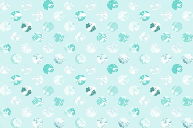 Nahtloses muster der abstrakten kreisförmigen aquarellflecken