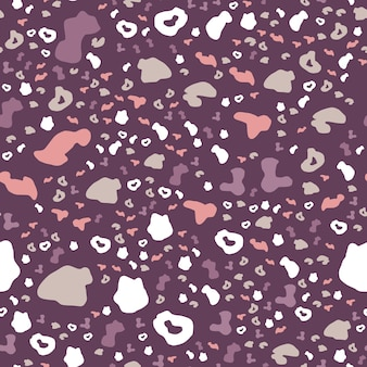 Nahtloses muster der abstrakten leopardenhaut. moderne gepardenfelltapete.