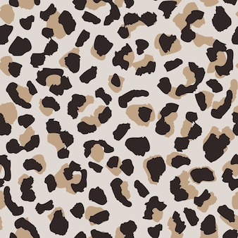 Nahtloses muster der abstrakten leopardenhaut.
