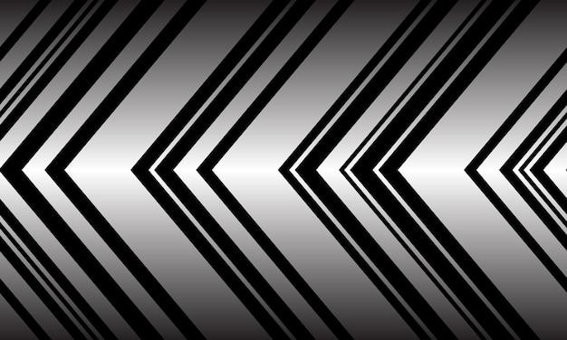 Nahtloses muster der abstrakten silbernen schwarzen pfeilmusterrichtung