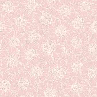 Nahtloses muster der abstrakten sonnenblumen
