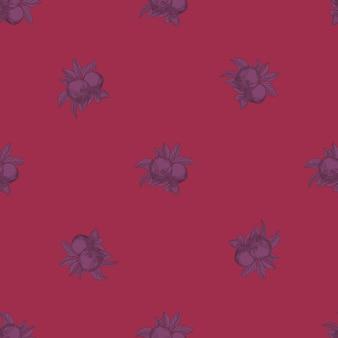 Nahtloses muster der äpfel auf rosa