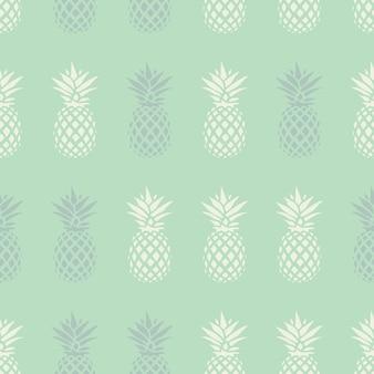Nahtloses muster der ananas auf tadellosem hintergrund