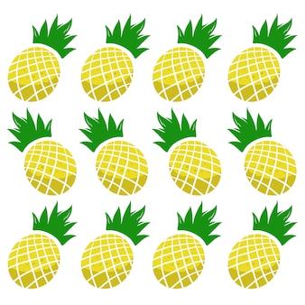 Nahtloses muster der ananasfrucht
