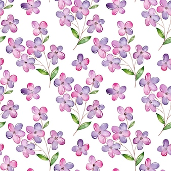 Nahtloses muster der aquarellkirschblüte