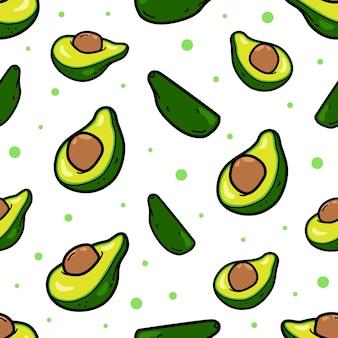 Nahtloses muster der avocado